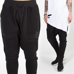 4 front pockets long banded hem sweatpants