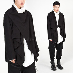 One button wrap shawl cardigan