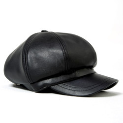 Leather octagonal cap