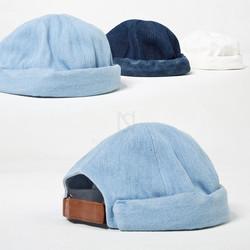 Denim docker cap