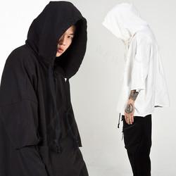 Avant-garde rough cut hoodie