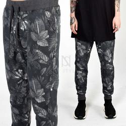 Flower printed sweatpants