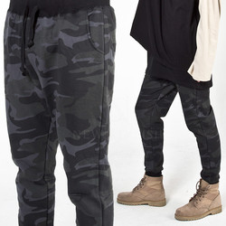 Camouflage patterned sweatpants