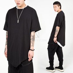 Avant-garde triangle hem long t-shirts