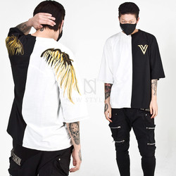Gold wing embroidered t-shirts