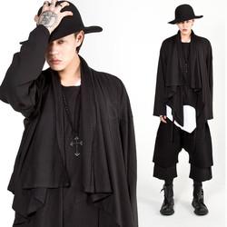 Asymmetric drape shawl cardigan