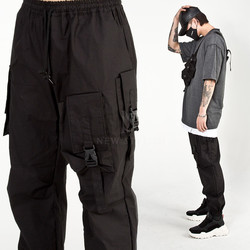 Multiple ammo pocket techwear banded pants