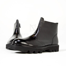 Zigzag thick outsole boots