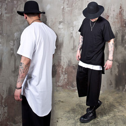 Long back round hem t-shirts