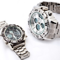 Metal chronograph watch