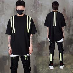Neon contrast strap round hem t-shirts