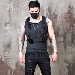 Techwear black vest