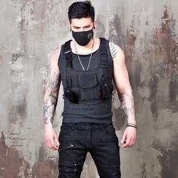 Techwear black vest