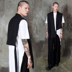 Avant-garde one armhole vest