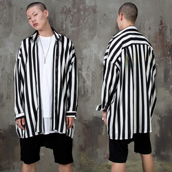 Striped loose fit shirts