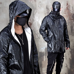 Reflective anorak hoodie