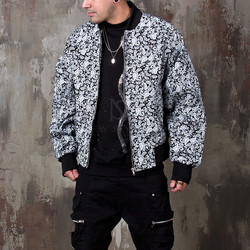 Paisley patterned blouson jacket