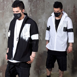 Contrast paint elbow shirts