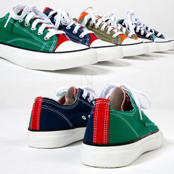 Multiple color contrast cotton sneakers