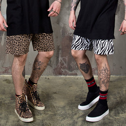 Animal patterned shorts