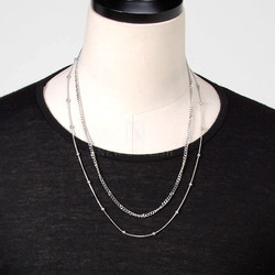 Ball and chain set necklace
