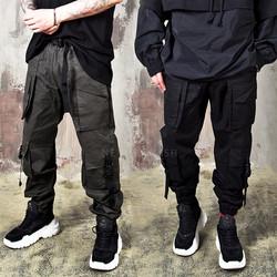 Buckle strap cargo pants