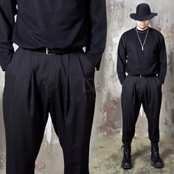 Double pleated baggy pants