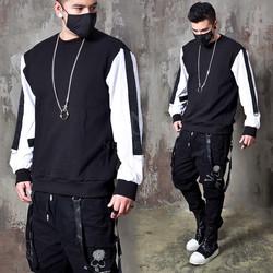 Contrast sleeves sweatshirts