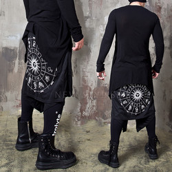 Zodiac printed double wrap banded pants