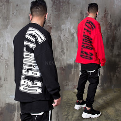 Big lettering round hem shirts