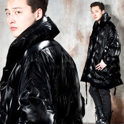 Premium padded shiny black coat