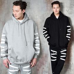 Contrast zigzag stripe hoodie