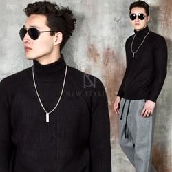 Basic knit turtle-neck knit shirts