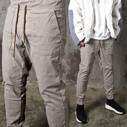 Simple banded pants