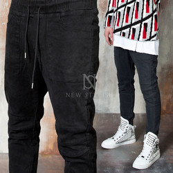 Banded biker pants