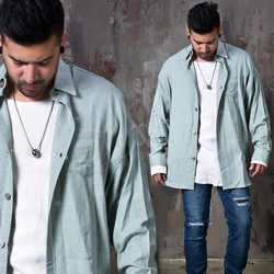 Pigment loose fit button up shirts