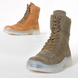 opaque outsole suede high-top boots