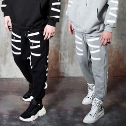 Contrast zigzag stripe sweatpants