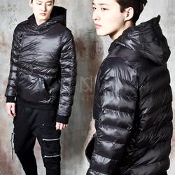 Black padded hoodie