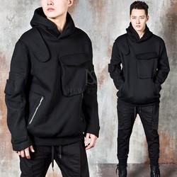 Avnat-garde multiple pocket hoodie