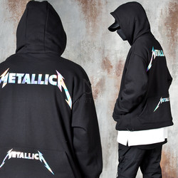 Holographic lettering black hoodie