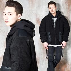Fleece fur zip-up jacket