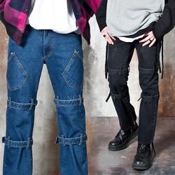 Bondage bootcut denim jeans