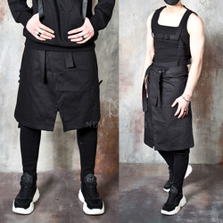 Detachable top techwear wrap skirt