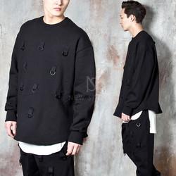 Multiple D-ring hook sweatshirts
