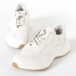 Wide high sole sneakers