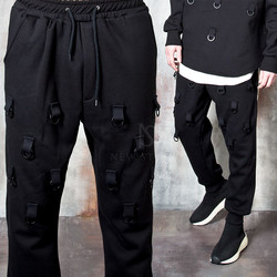 Multiple D-ring hook sweatpants