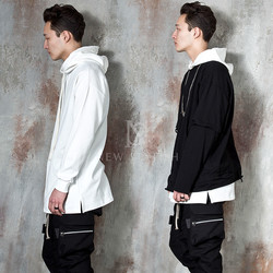 Simple plain layering hoodie