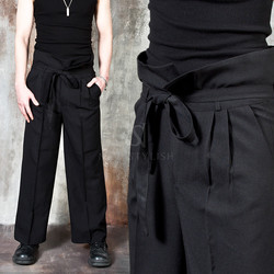 Harajuku vibe high waist wide pants