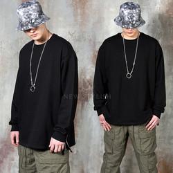 Long side zipper loose shirts